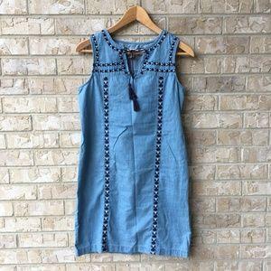 Old Navy Denim Jean Style Tassel Tunic Dress XS